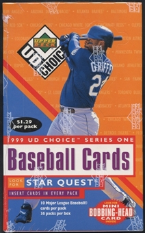 1999 Upper Deck Choice Series 1 Baseball Prepriced Box