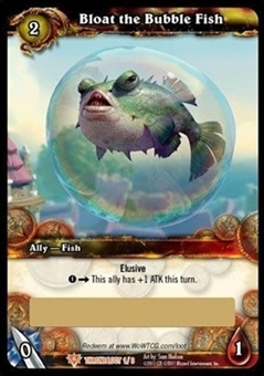 World of Warcraft Throne of the Tides Single Bloat the Bubble Fish Loot Card