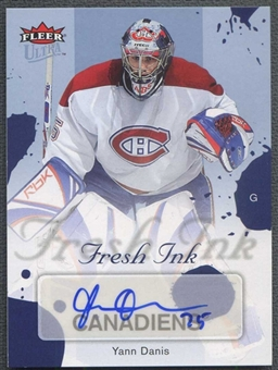 2005/06 Fleer Ultra Hockey Yann Danis Fresh Ink Auto #18/25