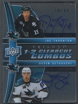2009/10 Upper Deck Trilogy Combo Clearcut Autographs #CC2TS Joe Thornton Devin Setoguchi 19/25
