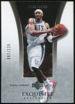 2004/05 Upper Deck Exquisite Collection #23 Vince Carter /225