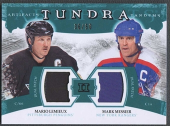 2011/12 Upper Deck Artifacts Mario Lemieux & Mark Messier Patch #36/50