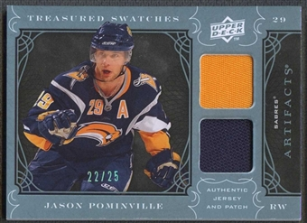 2009/10 Upper Deck Artifacts Hockey Jason Pominville Patch #22/25