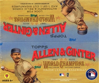 2010 Topps Allen & Ginter Baseball 24-Pack Box