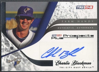 2008 TriStar Prospects Plus Baseball Charlie Blackmon Rookie Auto