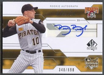 2008 Upper Deck SP Authentic Baseball Brian Bixler Rookie Auto #348/698