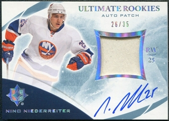 2010/11 Ultimate Collection Rookie Patch Autographs #124 Nino Niederreiter 26/35