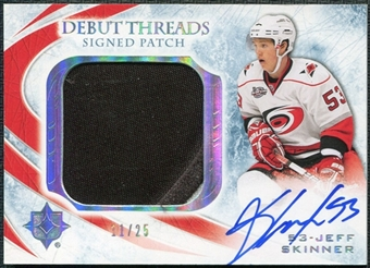 2010/11 Ultimate Collection Debut Threads Patches Autographs #SDTJS Jeff Skinner 11/25