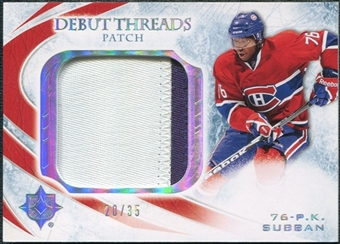 2010/11 Ultimate Collection Debut Threads Patches #DTPS P.K. Subban 20/35
