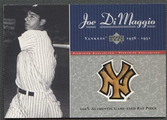 2001 Upper Deck Pinstripe Exclusives Baseball Joe DiMaggio Bat #006/100
