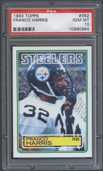 1983 Topps Football #362 Franco Harris PSA 10 (GEM MT) *0964