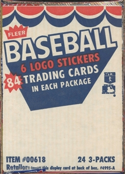 1984 Fleer Baseball Wax Rack Box