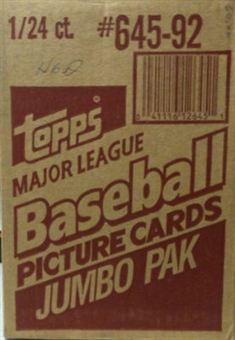1992 Topps Baseball Jumbo Case Box