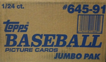 1991 Topps Baseball Jumbo Case Box