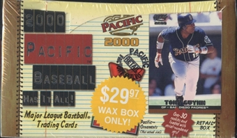 2000 Pacific Baseball Retail Box