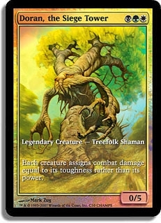 Magic the Gathering Promo Single Doran, the Siege Tower Foil (Textless)