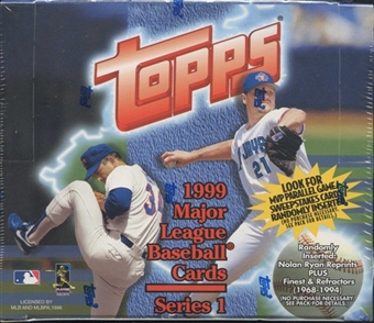 1999 Topps Series 1 Baseball 20 Pack Box