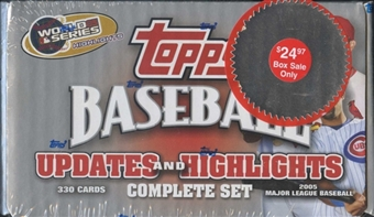2005 Topps Updates & Highlights Factory Retail Set Baseball (Box)