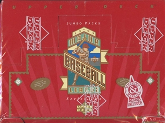 1993 Upper Deck Series 2 Baseball Retail Jumbo Box