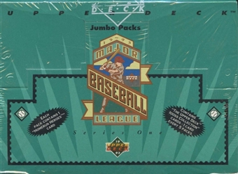 1993 Upper Deck Series 1 Baseball Retail Jumbo Box