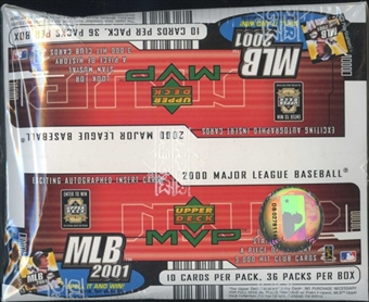 2001 Upper Deck MVP Baseball Retail Box