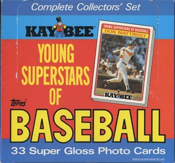 1986 Topps Kay Bee Baseball Factory Set Box