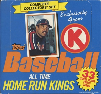 1985 Topps Circle K All Time Home Run Kings Baseball Factory Set Box