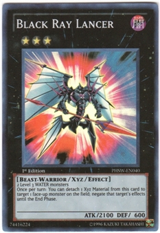 Yu-Gi-Oh Photon Shockwave Single Black Ray Lancer Super Rare
