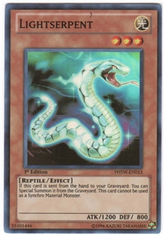 Yu-Gi-Oh Photon Shockwave Single Lightserpent Super Rare