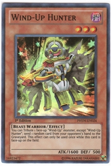 Yu-Gi-Oh Photon Shockwave Single Wind-Up Hunter Super Rare