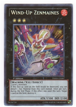 Yu-Gi-Oh Photon Shockwave 1st Ed. Single Wind-Up Zenmaines Secret Rare