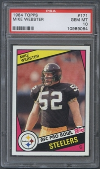 1984 Topps Football #171 Mike Webster PSA 10 (GEM MT) *9064