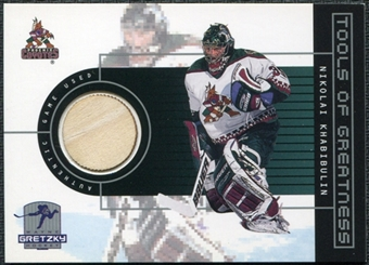 1999/00 Upper Deck Wayne Gretzky Hockey Tools of Greatness #TGNK Nikolai Khabibulin