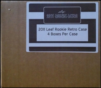2011 Leaf Rookie Retro Hobby 4-Box Case