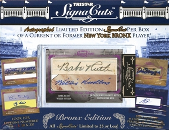 2011 TriStar SignaCuts Bronx Edition Baseball Hobby Box