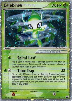 Pokemon Unseen Forces Single Celebi ex 117/115- SLIGHT PLAY (SP)