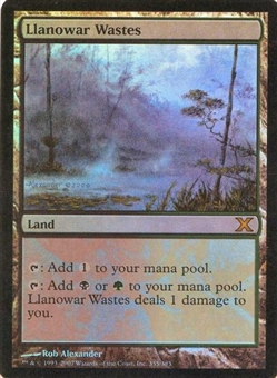 Magic the Gathering 10th Edition Single Llanowar Wastes FOIL
