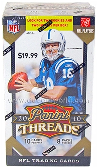 2010 Panini Threads Football 8-Pack Box