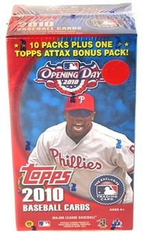 2010 Topps Opening Day Baseball 10-Pack Box