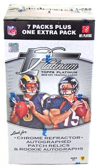 2010 Topps Platinum Football 8-Pack Box
