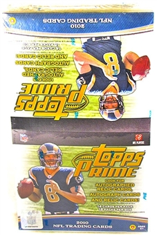 2010 Topps Prime Football Value Pack Box (18 Packs)