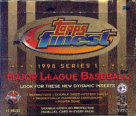1998 Topps Finest Series 1 Baseball Jumbo Box