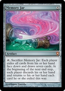 Magic the Gathering From the Vault: Relics Single Memory Jar Foil - SLIGHT PLAY (SP)