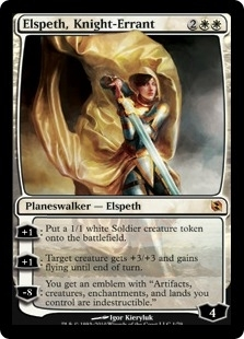 Magic the Gathering Duel Deck Single Elspeth, Knight-Errant FOIL