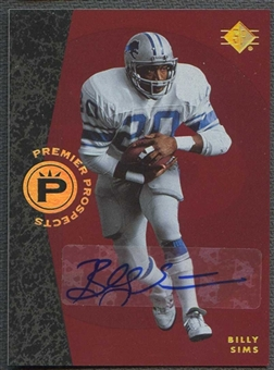 2008 Upper Deck SP Rookie Edition Football Billy Sims Auto
