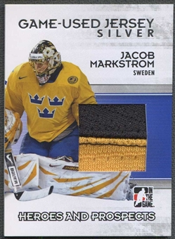 2009/10 In The Game Heroes and Prospects Hockey Jacob Markstrom Jersey /40