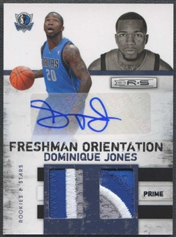 2010/11 Panini Rookie & Stars Basketball Dominique Jones Patch Auto #04/10
