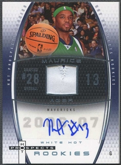 2006/07 Fleer Hot Prospects Basketball Maurice Ager Rookie Patch Auto #01/15