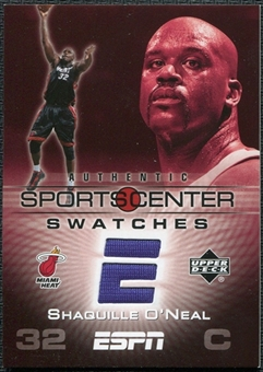 2005/06 Upper Deck ESPN Sports Center Swatches #SO Shaquille O'Neal