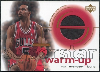 2001/02 Upper Deck Ovation Superstar Warm-Ups #RM Ron Mercer